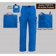 Pants II No Ankle Pockets 2X-SMALL Classic (STOCK) Aviator Scrubs $30.95