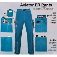 ER PANTS 2X-SMALL (STOCK) Aviator Scrubs $39.95