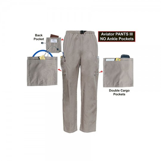 Pants III No Ankle Pockets 2X-SMALL (STOCK) Aviator Scrubs $34.95
